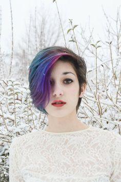 Resultado de imagem para pixie cut colorido