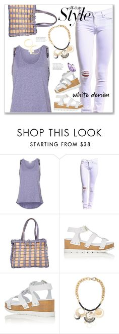"""""""Distressed white jeans"""" by sheryl-lee ❤ liked on Polyvore featuring Witchery, TEXTILE Elizabeth and James, Nancy Gonzalez, Barneys New York, Marni and Vita Fede"""