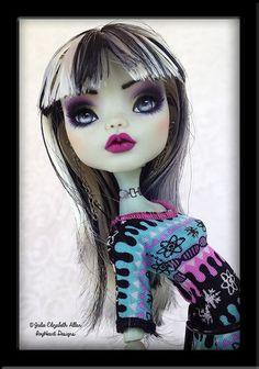 Kandy - OOAK Monster High Custom Repaint by IvyHeartDesigns.deviantart.com on @DeviantArt