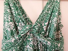 Daisy Fuentes Sexy Summer Dress Green Floral Ladies Size MEDIUM