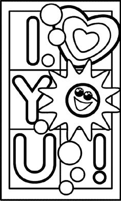 I Love You Coloring Page Crayola Pages Free Pattern