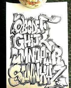 (notitle) – Paint – – Graffiti World Graffiti Alphabet Styles, Graffiti Lettering Alphabet, Chicano Lettering, Graffiti Writing, Tattoo Lettering Fonts, Graffiti Styles, Wie Zeichnet Man Graffiti, Best Graffiti, Graffiti Murals