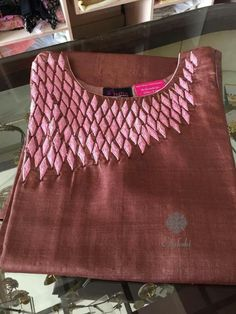 Whatsapp on 9496803123 to customise Embroidery On Kurtis, Aari Embroidery, Kurti Embroidery Design, Hand Embroidery Designs, Churidar Designs, Kurta Designs Women, Blouse Designs, Neck Patterns For Kurtis, Kurti Patterns