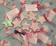 "Service Star. Girls decorate the stars and leave them when they do service. ""Pass it on"" poem."