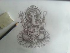 Ganesha tattoo sketch for a customer