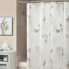 Bathroom Ideas Lilac lilac and butterflies bathroom shower curtain | curtains - from