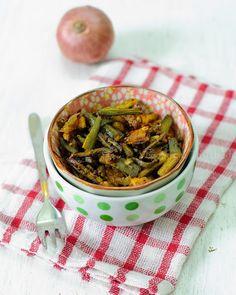 Ajwaini Bhindi (Okra With Carom Seeds) @Vegetarian Tastebuds