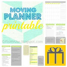 Moving Planner & Printable