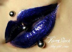 Rose Shock in Loop-de-Loop lime crime, dark, navy, blue, carousel gloss… Lip Makeup, Beauty Makeup, Rose Shock, Love Lips, Body Piercings, Beautiful Lips, Lip Art, Lip Colors, Beauty Skin