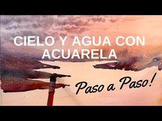 Cómo Pintar Cielos y Agua con Acuarelas Video - Fermín López Acuarelas