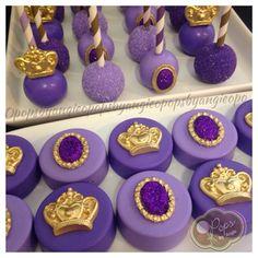 Cake pops and chocolate covered oreos for Princess Jasmine Oreo Pops, Chocolate Covered Oreos, Chocolate Treats, Party Treats, Party Desserts, Cakepops, Mini Cakes, Cupcake Cakes, Bolo Minion