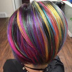 No photo description available. Vivid Hair Color, Vibrant Hair Colors, Beautiful Hair Color, Bright Hair, Cool Hair Color, Colorful Hair, Colours, Coloured Hair, Dream Hair