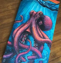 40 Ideas painting acrylic octopus artists for 2019 Octopus Painting, Octopus Drawing, Painting & Drawing, Octopus Artwork, Octopus Octopus, Tattoos Mandala, Posca, Cool Paintings, Acrylic Paintings