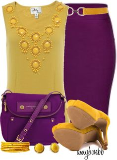 """Purple Yellow Contest 3"" by amybwebb on Polyvore"