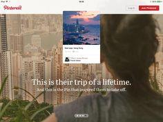 Pinterest的欢迎介绍。