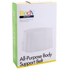 BodySport All-Purpose Value Support Belt: BodySport All-Purpose Value Support Belt provides relief for rib and minor back pain. It holds cold packs in place. Permanent stays help prevent rolling. It features all-elastic construction and contoured for an ideal fit.