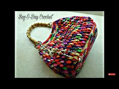 CROCHET How to #Crochet Puff Bean Stitch Handbag Purse #TUTORIAL #271 supersaver - YouTube