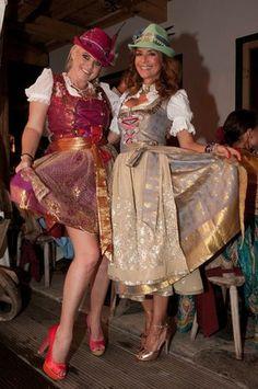 Gitta Saxx und Pia Bolte mit Hutkreation Clamaré #Tracht #Dirndl #Wiesn