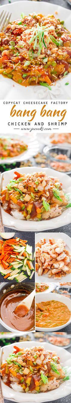 Copycat Cheesecake Factory Bang Bang Chicken and Shrimp