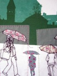 Rosie James - Umbrellas Rosie James, Migraine Art, A Level Textiles, Sewing Art, Drawing Artist, Gcse Art, Free Motion Quilting, Textile Artists, Embroidery Art