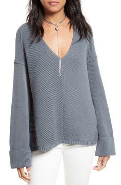 Free People La Brea V-Neck Sweater - Sweaters - Women - Macy's