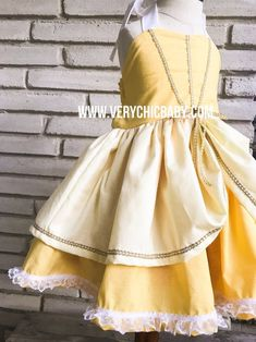Belle Dress, Belle Costume, Beauty and the Beast Costume, Belle Girls Dress, Belle Birthday Costume Girls Belle Dress, Princess Belle Dress, Little Mermaid Dresses, Little Girl Dresses, Girls Dresses, Belle Costume, Costume Dress, Beauty And The Beast Costume, Beautiful Costumes