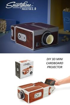 DIY Mini Cardboard Projector - Turn your room into a movie theatre for only [$18.32] #Chinavasion #coolgadgets #projector #diy #miniprojector #cardboardprojector Cool Electronic Gadgets, Electronics Gadgets, Cool Gadgets, Watch Music Video, Phone Projector, Gadget Shop, House Party, Theatre, Smartphone