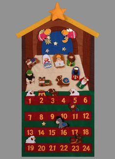 "29"" tall felt Nativity Advent Calendar $19.95"