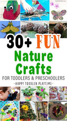 30+ Stunning Nature Crafts for Kids - HAPPY TODDLER PLAYTIME Toddler Preschool, Toddler Crafts, Preschool Crafts, Toddler Play, Kid Crafts, Arts And Crafts For Kids Toddlers, Outdoor Activities For Toddlers, Summer Activities, Snail Craft