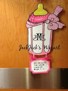 New Born Announcement Baby Announcement Nursery by JackJacksWayart