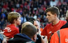 17 pictures that show Anfield will never forget Steven Gerrard Kolo Toure, Farewell Speech, Stevie G, Crystal Palace Fc, Liverpool Wallpapers, Action Images, Liverpool Fans, Barclays Premier, Barclay Premier League