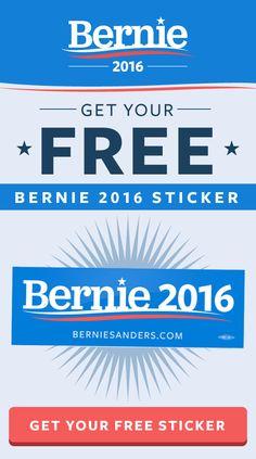 GET YOUR FREE BERNIE-2016 BUMPER STICKER AT https://go.berniesanders.com/page/s/free-bernie-sticker … #FeelTheBern #BernieSanders #VoteBernie #Bernie2k16 #polls #caucus #HillaryClinton