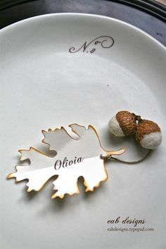 shown for a fall tea party, but a different leaf for other seasons?