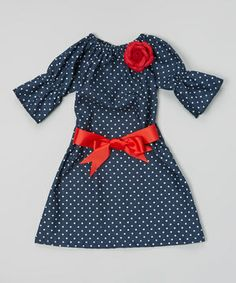 Playfully patterned and irresistibly sweet, this frock is the answer to a little lass's dress-up dreams. Soft cotton and spandex stretch with every whirl and twirl, and the elastic neckline guarantees a fuss-free, slip-on fit.