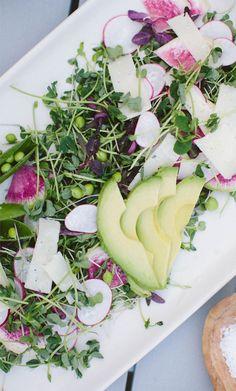 Pea Shoot & Radish Salad