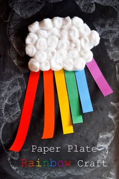 Paper Plate Rainbow Craft to Learn the Colors of the Rainbow