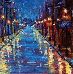 New Orleans Bourbon Street Painting  - New Orleans Bourbon Street Fine Art Print