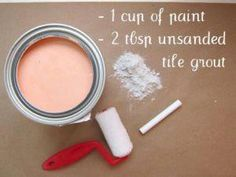 chalkboard paint recipe! So great and so many possibilities.  I did this for a party and went crazy making all kinds of things a chalkboard.