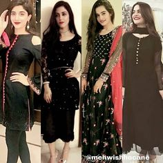 Beauties in black who is your favourite @mawrellous @mayaaliofficial @aimankhan.official @minalkhan.official #minalkhan #aimankhan #mawrahocane #mayaali  Plz dont copy