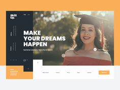 Slider concept for the foreign language school by Dmitriy
