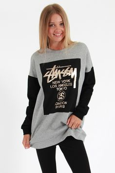 Stussy Block Cities Crew - Sweatshirts and Crews | North Beach