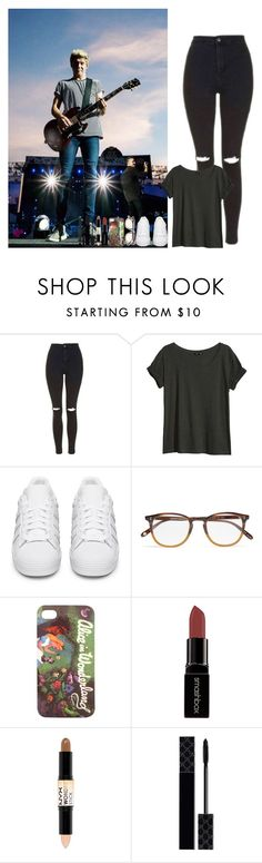 """""""One Direction concert"""" by walking-in-the-wind ❤ liked on Polyvore featuring Topshop, H&M, adidas Originals, Garrett Leight, Disney, Smashbox, NYX, Gucci and Givenchy"""
