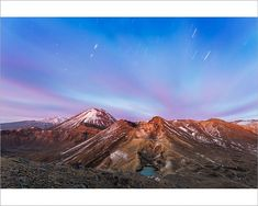Photograph-Awesome dawn over volcanic landscape, Tongariro-Photograph printed in the USA Fine Art Prints, Framed Prints, Canvas Prints, New Zealand Lakes, New Zealand Image, Emerald Lake, Photographic Prints, Poster Size Prints, Photo Mugs