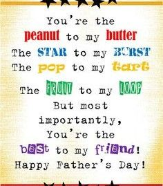 funny fathers day poems from teenage daughter
