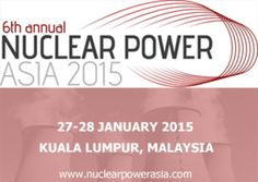 6th Nuclear Power Asia 2015 at Hilton Hotel, 3 Jalan Stesen Sentral, Kuala Lumpur, 50470, Malaysia on Jan 27, 2015 at 8:30 am ends Jan 28, 2015 at 5:30 pm. The 6th Annual Nuclear Power Asia Conference and Exhibition is the premier nuclear power event in Asia that brings together global experience to foster regional new build projects. Price: Utlility/Government: SGD 2,330.00 other companies: SGD 3,190.00 Category: Conferences