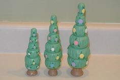 set 3 Cottontail lane Trees Balls/Eggs/Flowers  Midwest of Cannon Falls Easter