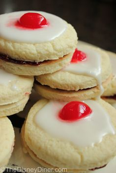"""Disney Recipes: Empire Biscuits (from Disney's """"Brave"""" Movie) www.TheDisneyDiner.com"""