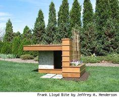 "Frank Lloyd ""Bite"" house, from Akron Ohio Barkitecture Exhibit 2009"