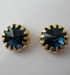 Rivoli Crystal Stud Earrings