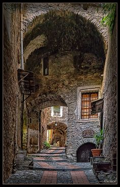 The question is: is this a photo or a painting?-Medieval Village of Dolceacqua, Italy Places Around The World, Oh The Places You'll Go, Places To Travel, Places To Visit, Around The Worlds, Italy Vacation, Italy Travel, Vila Medieval, Wonderful Places